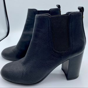 TORY BURCH Black Leather Margaux 90mm Bootie